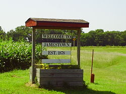 Welcome sign, north of town