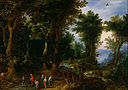 Jan Brueghel, the Elder - Wooded Landscape with Abraham and Isaac - Google Art Project.jpg