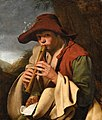 Jan Miel (Attr) - Boy playing a flute (Il Pifferaio).jpg