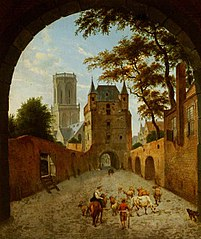 Emmerich: View through a Gateway of the Waterpoort