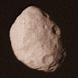 Janus (moon) - Image: Janus Voyager 2
