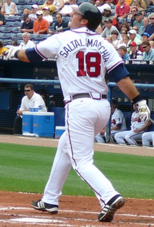 Jarrod Saltalamacchia - Saltalamacchia batting for the Atlanta Braves in 2007
