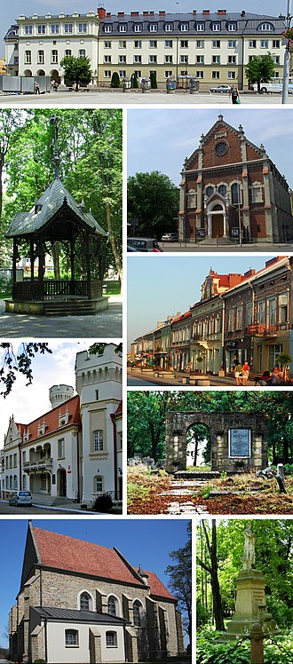 Jasło - Starosty in Jaslo, Gazebo in City Park, Palace, Parish Church, Church of Sts. Stanislaus, Promenade and historic buildings, Jewish Cemetery, Tadeusz Kosciuszko Monument
