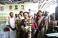 Jayanthi Natarajan lighting the lamp to inaugurate the biodiversity exhibition as Science Express Biodiversity Special arrives at central railway station, in Chennai. The AGM, Southern Railway.jpg