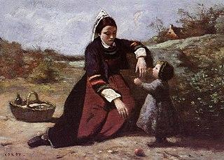 Femme bretonne et sa petite fille