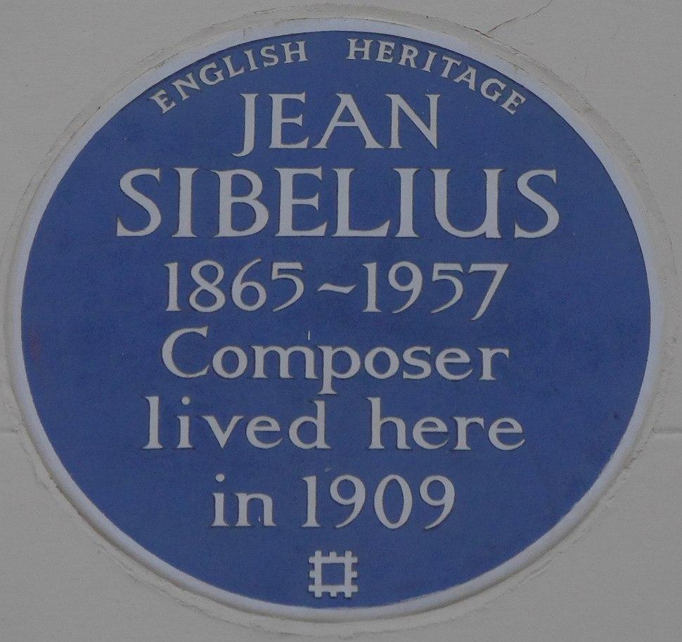 Jean Sibelius 15 Gloucester Walk blue plaque