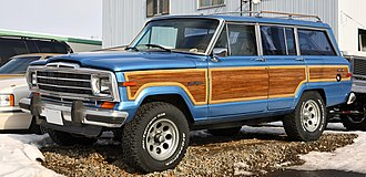 The Jeep Wagoneer was designed by Brooks Stevens. Jeep Grand Wagoneer 001.JPG
