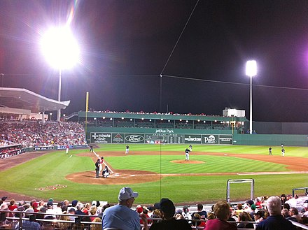 A spring training game at JetBlue Park JetBlue Park at Fenway South 2.JPG
