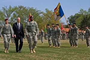 Vice President Joe Biden inspects the 18th Air...