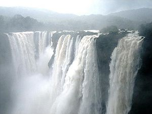 Shimoga district - Jog Falls in full flow during the monsoon season.
