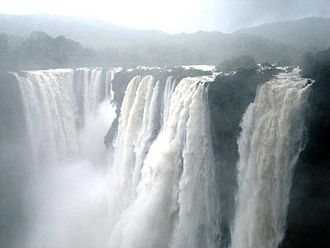 Shimoga district - Jog Falls in full flow during the monsoon season.