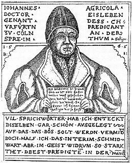 Johannes Agricola Reformer, humanist