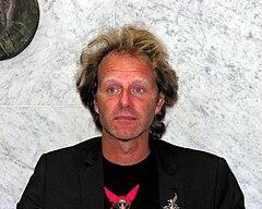 John Ajvide Lindqvist i Helsingfors i augusti 2008.
