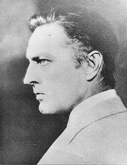 John Barrymore in left profile