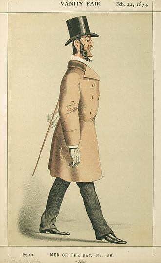 "John Burgess Karslake - ""Jack"". Caricature by Lyall published in Vanity Fair in 1873."
