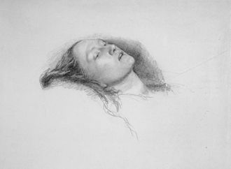 Ophelia (painting) - Study for the painting, 1852