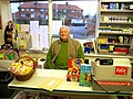 John Fisher in the village shop, Whixley - geograph.org.uk - 174463.jpg