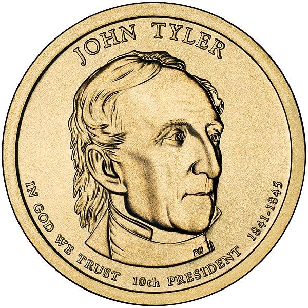 File:John Tyler Presidential $1 Coin obverse.jpg