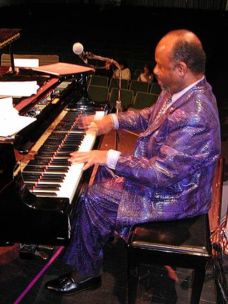 Magic City Jazz Orchestra - Pianist Johnny O'Neal performing in concert with SuperJazz.  Photo by Ray Reach.