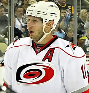 Jordan Staal - With the Hurricanes in 2013.
