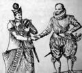 Joris van Spilbergen ontmoet de koning van Kandy Ceylon 1602.png