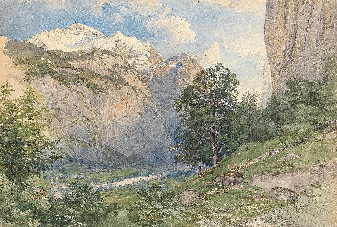 Joseph Höger - The Lauterbrunnen valley with Jungfrau.jpg