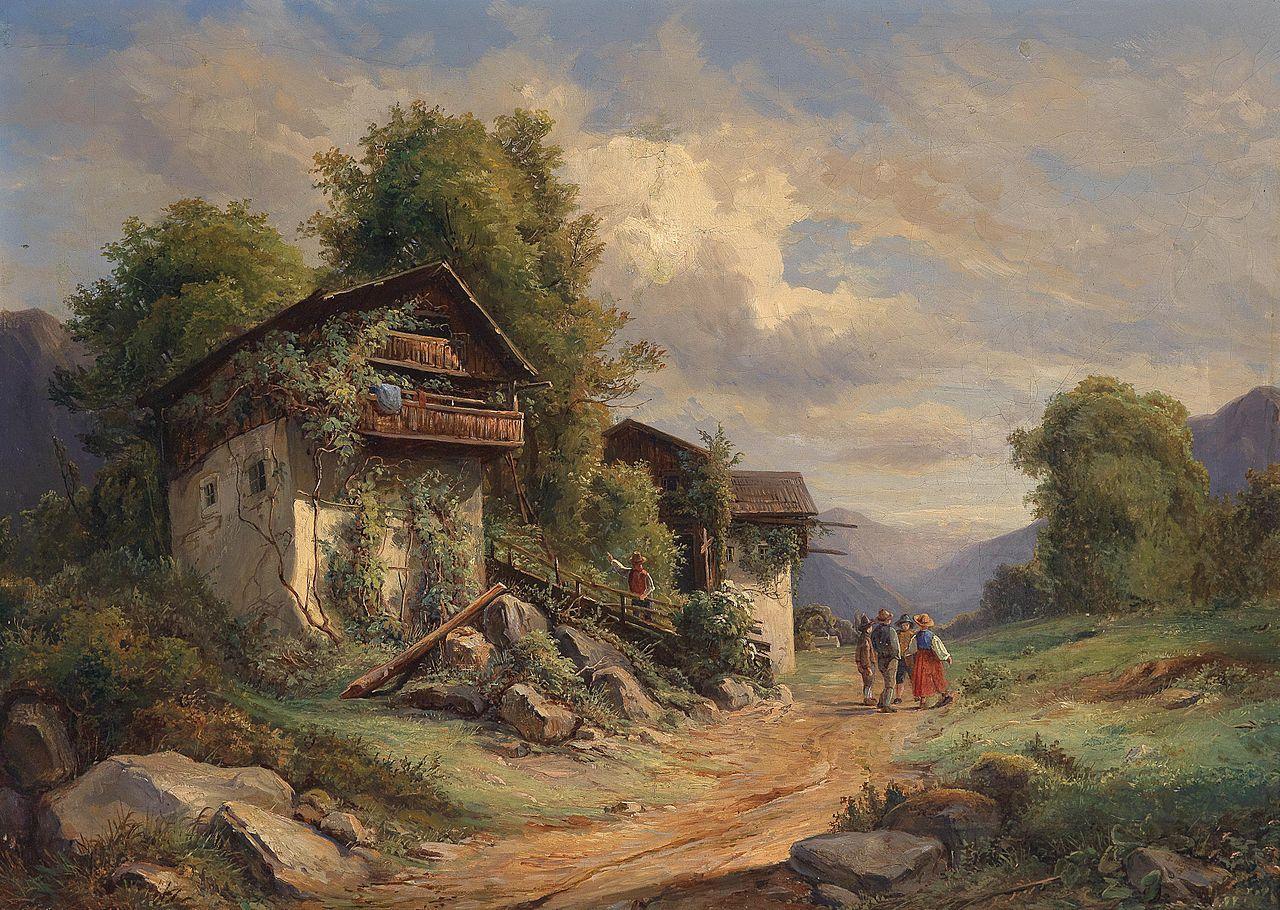 Joseph Höger Ländliche Idylle 1852.jpg