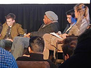 John Boyega - Sundance Film Festival, 2014: John Boyega (2nd from the left), together with Josh Wiggins, Kodi Smit-McPhee and Sharon Swart (from the left to the right)