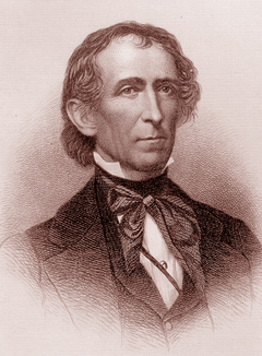 Copperplate engraving of  John Tyler.