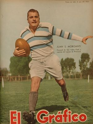 San Isidro Club - Juan Morganti, one of SIC forwards of 1951.