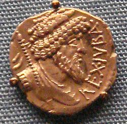 Juba denarius in support of Pompey against Cesar 60 46 BCE.jpg