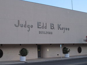 Tom Green County, Texas - Judge Edd B. Keyes Annex Building across from the Tom Green County Courthouse