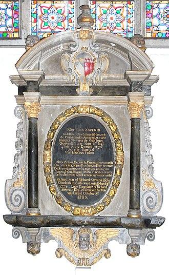 St Michael and All Angels, Great Torrington - Memorial monument to Judith Hancock Stevens
