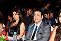 Juhi, Govinda at the Indian Princess finals 2014.jpg