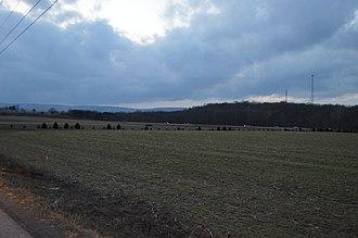 Juniata Township, Bedford County, Pennsylvania - Fields at dusk near the Pennsylvania Turnpike