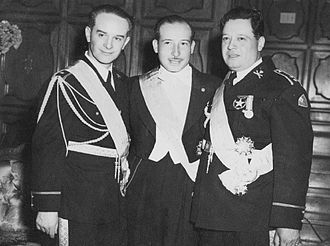 Jacobo Árbenz - Árbenz, Jorge Toriello (center), and Francisco Arana (right) in 1944. The three men formed the junta that ruled Guatemala from the October Revolution until the election of Arévalo.