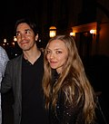 Justin Long and Amanda Seyfried (Tribeca FF 2015).jpg