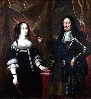 Cosimo III de' Medici, Grand Duke of Tuscany - Ferdinando II de' Medici, Grand Duke of Tuscany, Cosimo III's father, and Vittoria Della Rovere, his mother, by Justus Sustermans