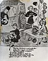 Kürschner und Sattler bei der Arbeit. Schachbuch des Konrad von Ammenhausen, 14. Jahrhundert.jpg