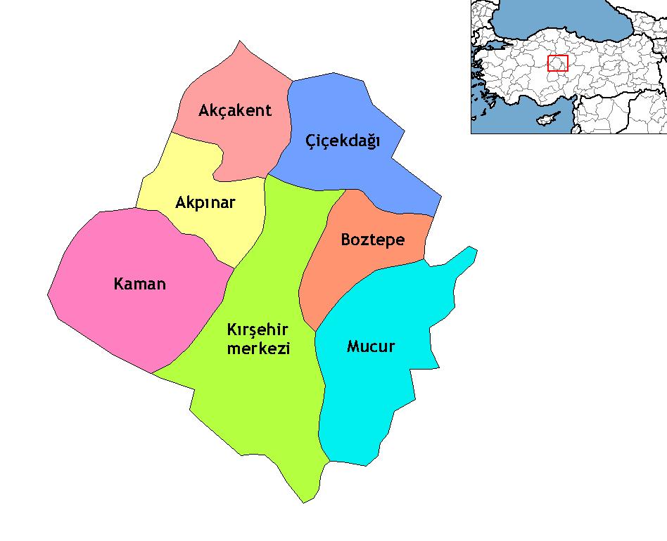 Kırşehir districts