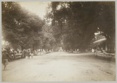 KITLV 12254 - Kassian Céphas - Streetscape at Yogyakarta with the entrance to the alun-alun in the distance - Around 1900.tif