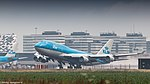 KLM Boeing 747-400 departing from Amsterdam for LA (35083098704).jpg