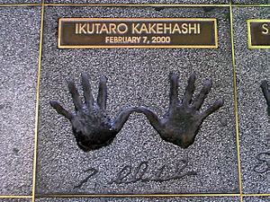 Ikutaro Kakehashi - Ikutaro Kakehashi's handprints at Hollywood's RockWalk, Hollywood, California