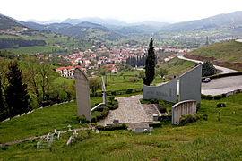 Kalavryta, as seen from the memorial site.