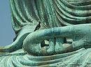 Hands of Amitābha statue at Kotokuin in Kamakura