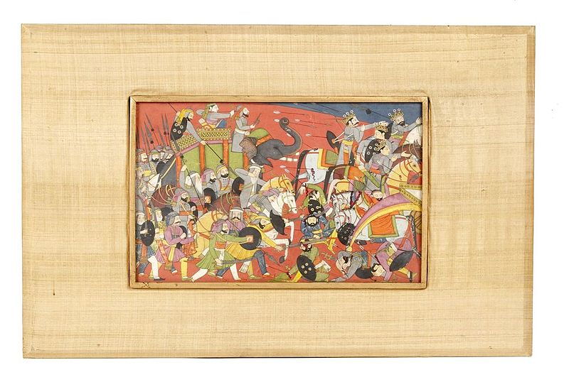 File:Kangra painting of a battle scene presented to the US by Sarvepalli Radhakrishnan.jpg
