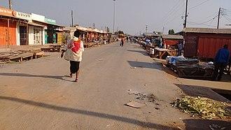 Kapiri Mposhi - Market street