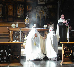 Benediction of the Blessed Sacrament - Benediction at a Carmelite friary in Ghent, Belgium