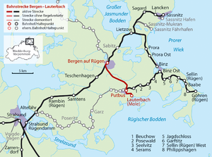 Bergen auf Rügen–Lauterbach Mole railway - Wikipedia, the free ...