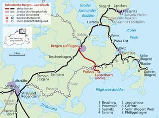 Bergen auf Rügen–Lauterbach Mole railway railway line